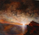 Manifold_Harley_Sunset_2007_Oil_on_board_130x150
