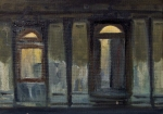 Old Myers Building 10 x 15 cm Oil on Board